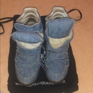 Isabel Marant Denim High Top Sneakers